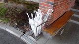 嬬恋プリンスホテルの入口横にある貸傘