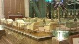 東京ドームホテルのロビーの喫茶