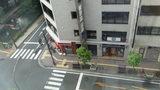 ホテルマイラの部屋からの眺望(向かいのコンビニ「ポプラ」)昼
