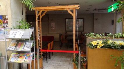 岡山ビジネスホテルアネックスの1階朝食レストラン会場