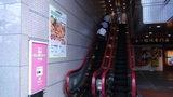 岡山ワシントンホテルプラザの2Fフロントに上がるエスカレーター