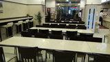 東横イン岡山駅東口のロビー(朝食会場)