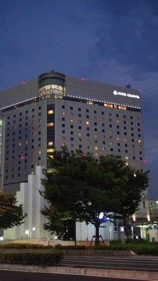 ホテルグランヴィア岡山の外観(夜景)