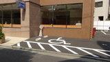 東横イン岡山駅西口広場の駐車場(身障者用スペース)