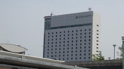 ホテルグランヴィア岡山の外観(バスセンター側)