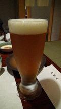 白骨の名湯 泡の湯の夕食の生ビール