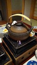 白骨の名湯 泡の湯 夕食の土瓶蒸し