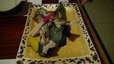 白骨の名湯 泡の湯 夕食の岩魚の焼き物