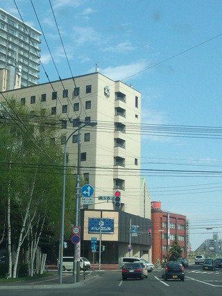 ホテルノースシティの南9条通り側から見た外観