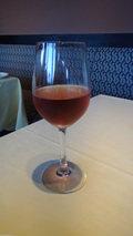 清里高原ホテルのグラス赤ワイン