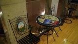 清里高原ホテルの休憩用のお洒落なテーブル・チェアセット