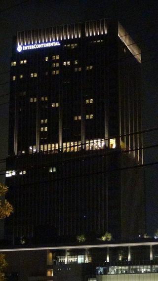 インターコンチネンタルホテル大阪の外観(夜景)
