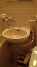 大金温泉グランドホテルの部屋の洗面所