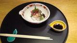 ホテルマウント富士の夕食の刺身