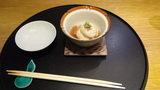 ホテルマウント富士の夕食の焼河豚白子飯蒸し