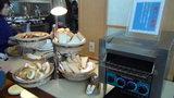 ホテルマウント富士の朝食のパンコーナー