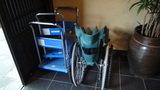 お宿木の葉で貸出している車椅子と台車