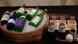 お宿木の葉の夕食時の日本酒