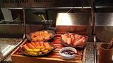 お宿木の葉の夕食の帆立と練り物と焼き豚