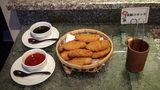 お宿木の葉の夕食の麦豚コロッケ