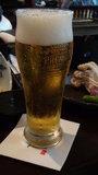 お宿木の葉の夕食の生ビール