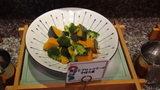 お宿木の葉の夕食の南瓜とブロッコリーのそぼろ煮