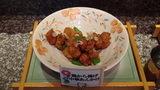 お宿木の葉の夕食の鶏から揚げ中華あんかけ
