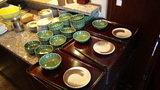 お宿木の葉の朝食の取り皿