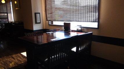 お宿木の葉の朝食会場のテーブル