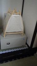 秘湯にごり湯の宿渓雲閣の貴重品ボックスと間接照明