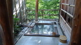 秘湯にごり湯の宿渓雲閣の貸切露天風呂