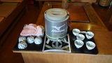 秘湯にごり湯の宿渓雲閣の冷茶サービス