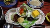 秘湯にごり湯の宿渓雲閣の夕食の前菜