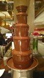 ヒルトン東京の1F「マーブルラウンジ」のビュッフェのチョコレートファウンテン