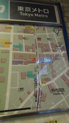 地下鉄半蔵門駅の案内図