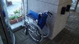 はぼろ温泉サンセットプラザの貸出用の車椅子