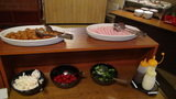 はぼろ温泉サンセットプラザの朝食のハムと野菜類