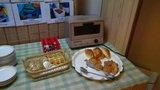 はぼろ温泉サンセットプラザの朝食のパンとジャム・バター
