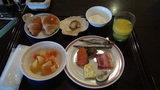 はぼろ温泉サンセットプラザの朝食バイキングの盛り付け