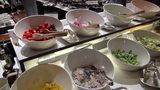 軽井沢プリンスホテルウエストのブュッフェのサラダ