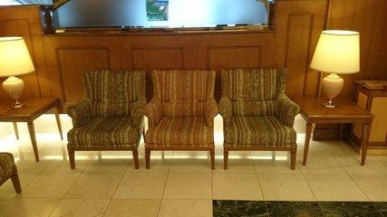 札幌アスペンホテルのロビーの椅子