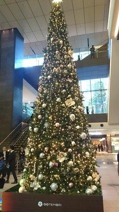 大手町タワーのクリスマスツリー