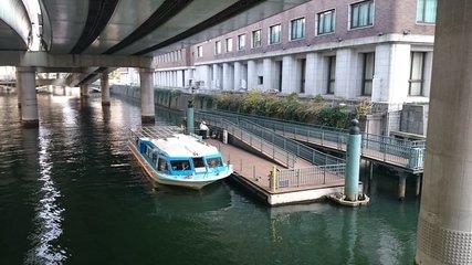 「カワセミ浅草・日本橋めぐり」の日本橋発着場