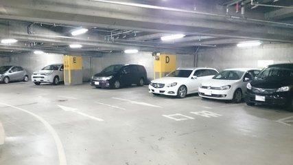 札幌プリンスホテルの地下駐車場