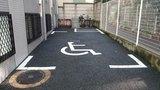 ホテル法華イン日本橋の身障者用駐車場