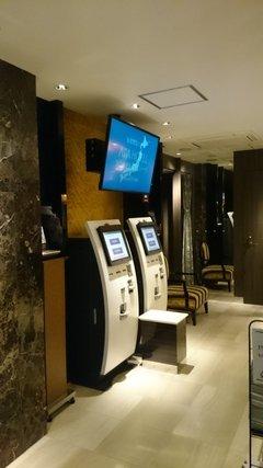 アパホテル秋葉原駅前のロビーにある自動精算機