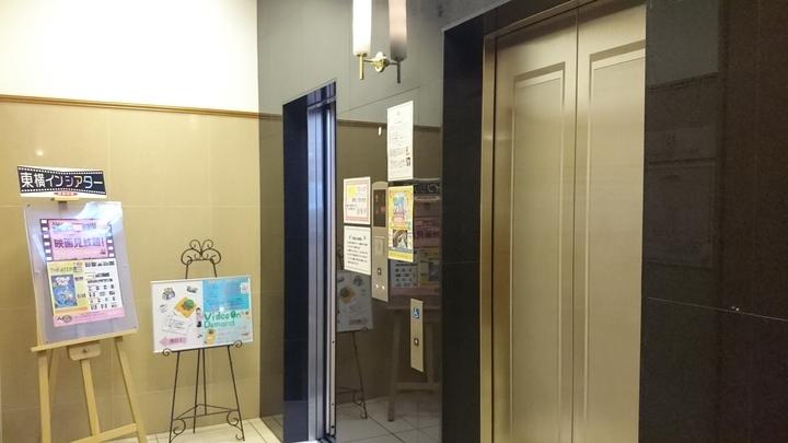 東横イン高崎駅西口1のエレベーター