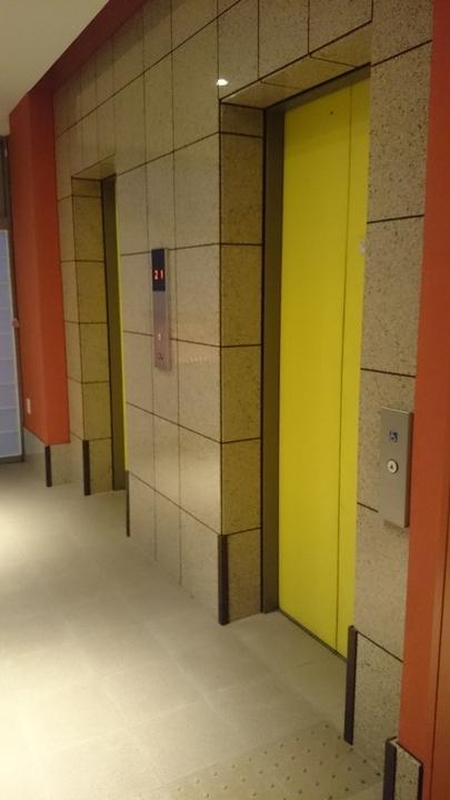 ホテル1ー2ー3高崎のエレベーター