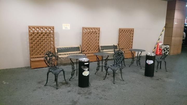 東横イン高崎駅西口2の野外喫煙所