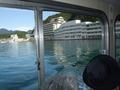 船から見たホテル浦島